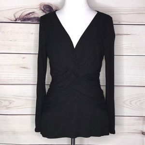 BCBGMaxAzria Weave Intertwined Center Blouse Med